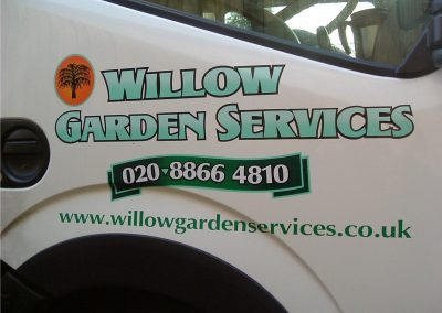 Company vehicle signage